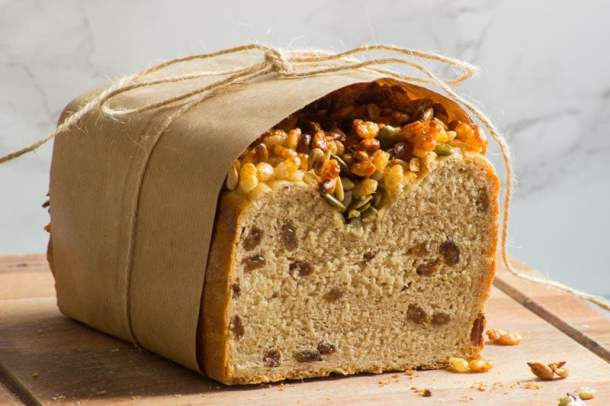 sultana and coconut milk breakfast loaf