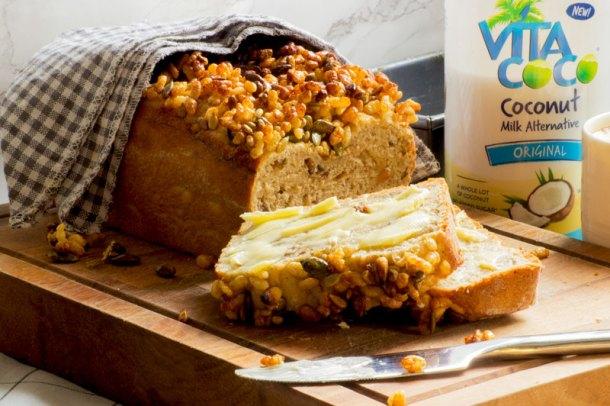 vita coconut milk and sultana breakfast loaf