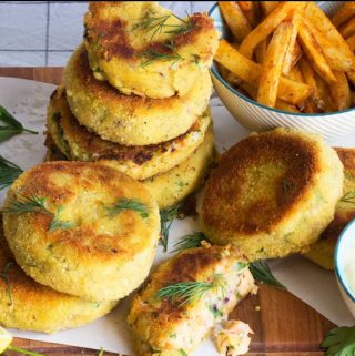 fishcakes with dill and lemon