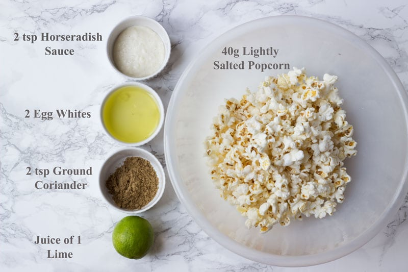 listed ingredients popcorn bites