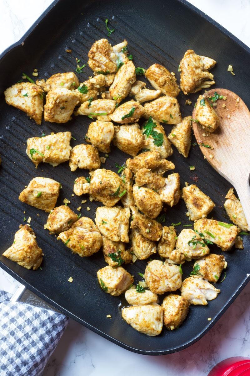 chicken curry powder and fresh coriander