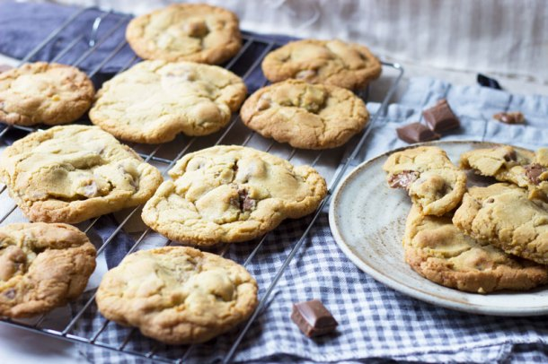 Soft Bake Cookies with Dairy Milk Chocolate Chunks