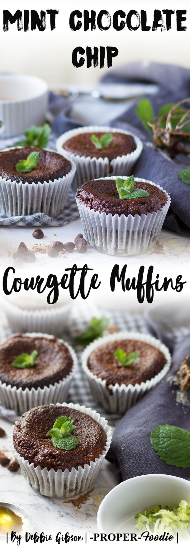 Mint chocolate chip courgette muffins