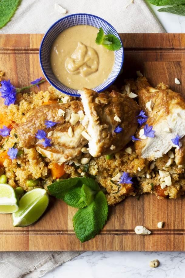 chicken satay with satay sauce