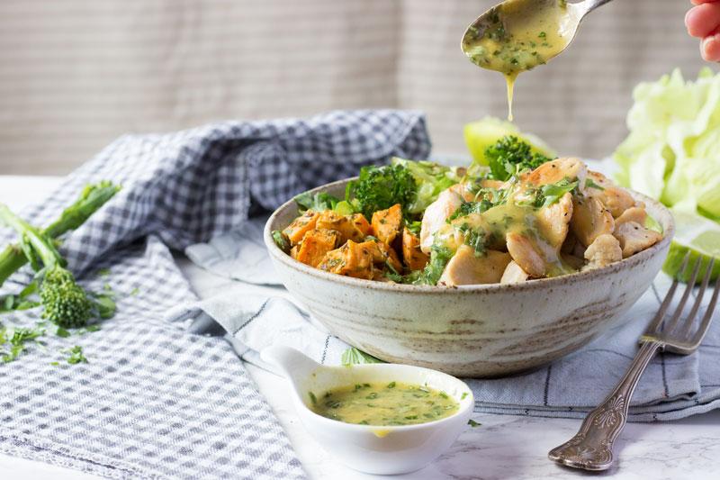 Mustard and Tarragon Chicken Bliss Bowls