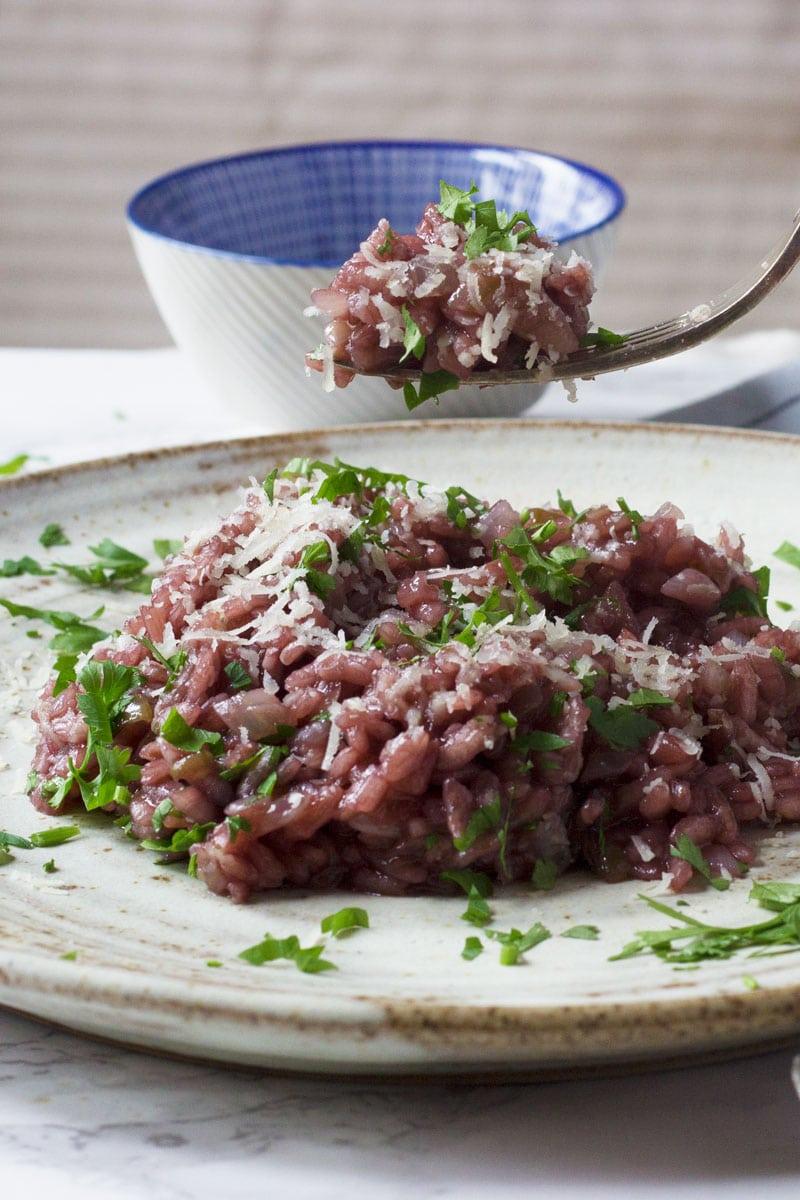 Valpolicella red wine risotto