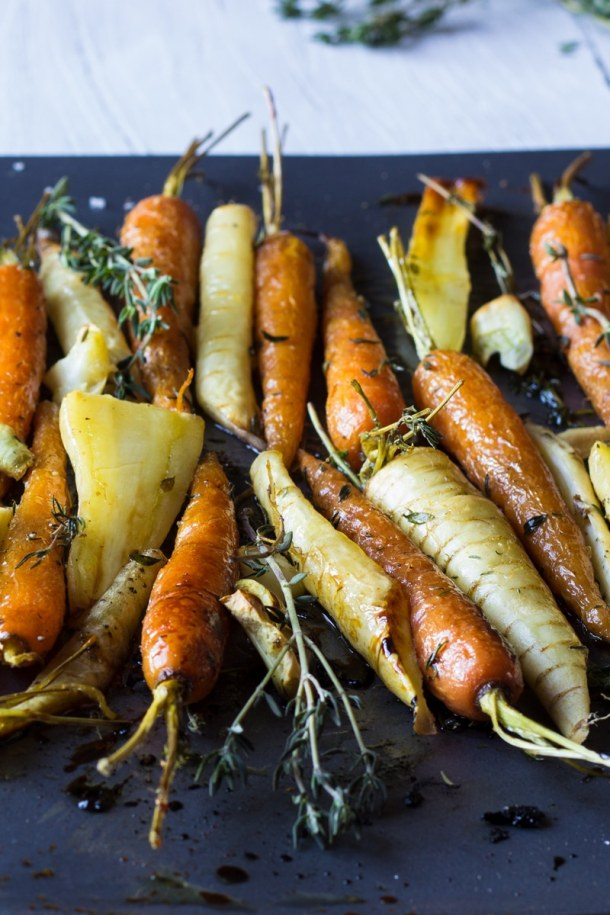 honey glazed carrots and parsnips