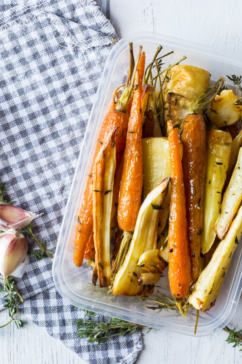 honey roast carrots and parsnips prepared in advance