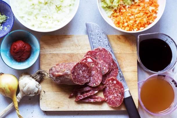 fennel salami bolognese ingredients