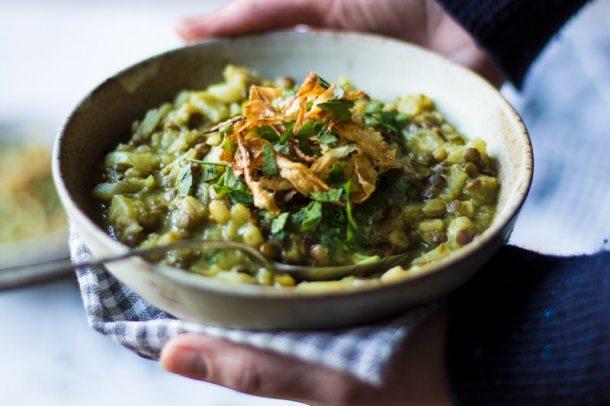 parsnip green lentil and barley stew