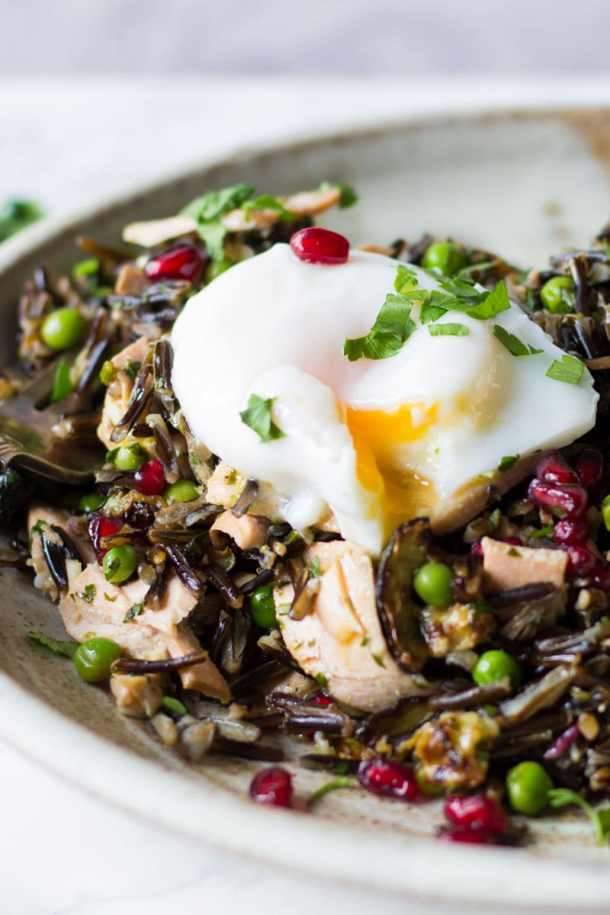 wild rice and garden pea salad