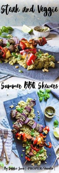 steak and veggie summer BBQ skewers