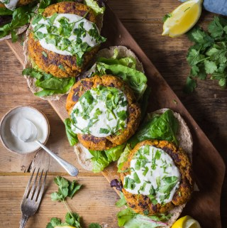 Spicy Sweet Potato Beef Burgers