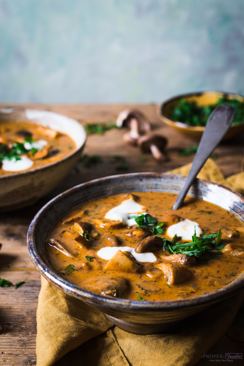Image for Sunday Supper Movement website - Hungarian mushroom soup