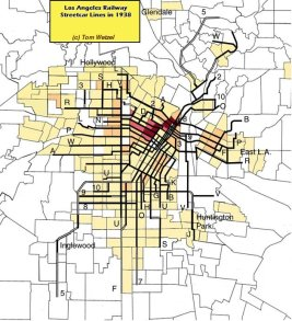 Central Trolley Map of LA