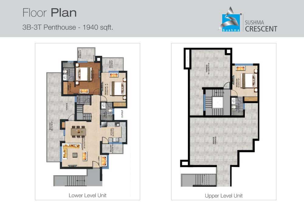 Floor Plan Sushma Crescent Gazipur Old Panchkula