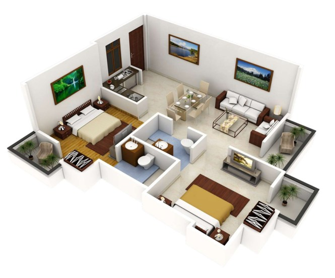 1000 Sq Ft 2bhk House Plans | Amazing House Plans