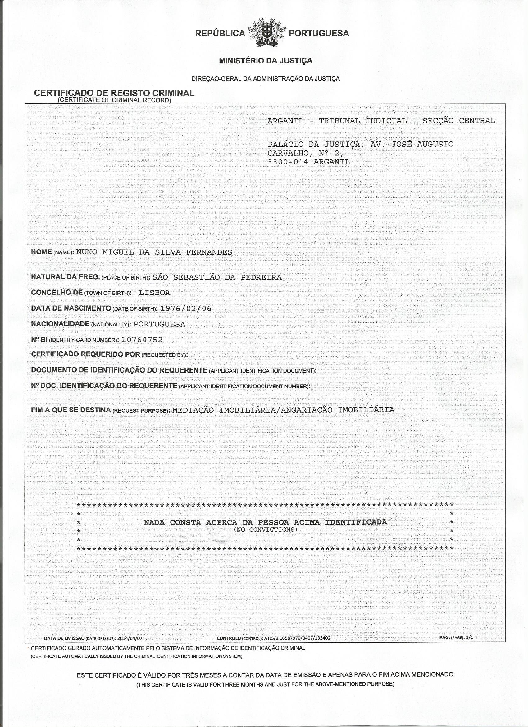 Certificado de registo criminal0003