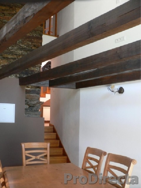 Dining Room with Open Beams and Cathedral Ceiling