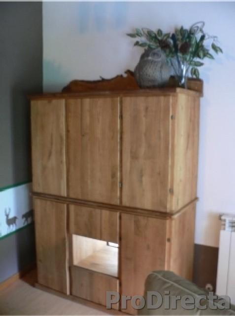 Living Room – Custom Designed and Built Cabinet of Aged Oak