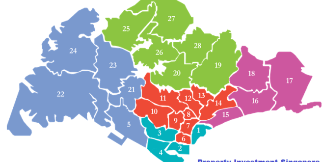 Singapore District Map