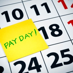 Pay Day On Sticky Note Over Calendar For How Much Do Property Managers Make Blog
