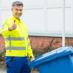 Man With Trash Can For Choosing A Valet Trash Service Blog