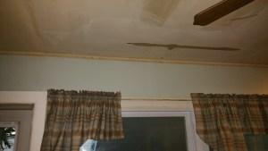 Overhead flood damage restoration
