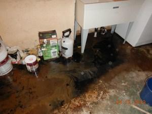 Sewage Overflow Laundry Room