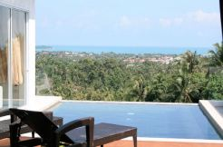 Near new Chaweng hillside villa with stunning sea views for sale on Koh Samui