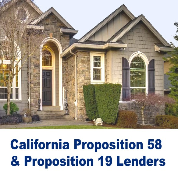 California Proposition 58 and Proposition 19 Lenders