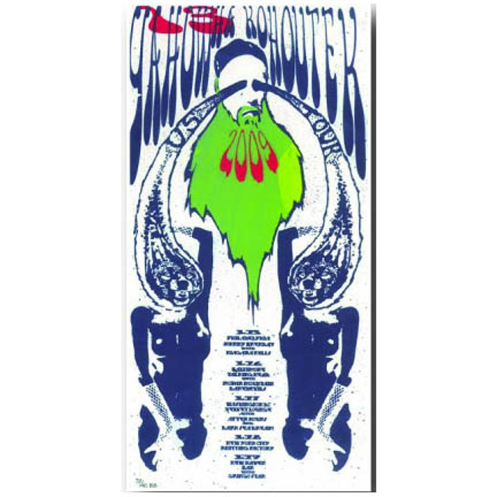 Yahowha 13   2009 Tour Poster   8.5 x17 w/ download code