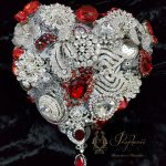 Red And White Brooch Bouquet Heart Prophecii