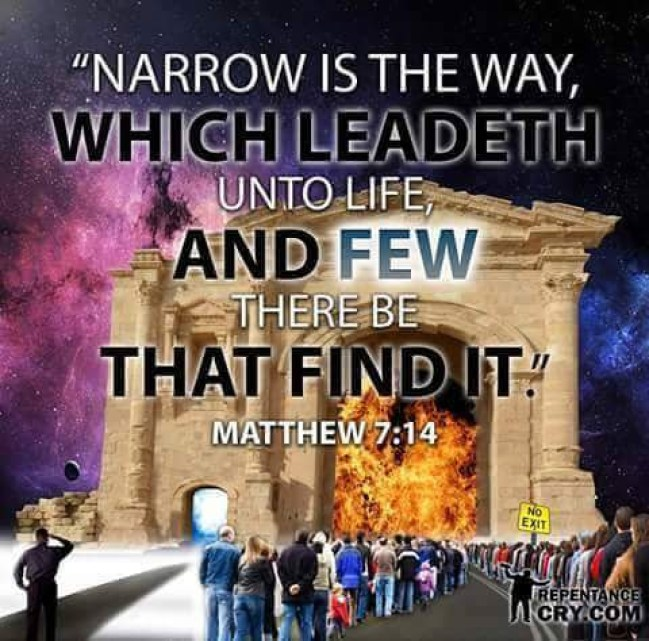 Matt 7:14 Narrow is the way
