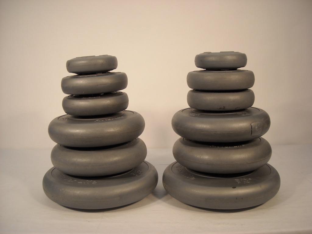 Grey Plastic Dummy Weight Discs