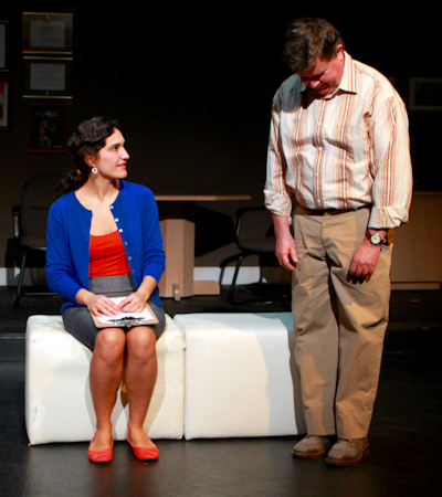 "Larissa Coser and Neil Gallagher in ""Run in Fields"""