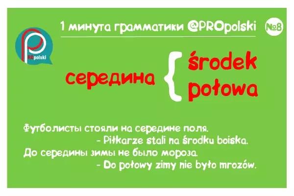 Одна минута грамматики ProPolski 8: середина