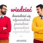 Польские глаголы-родственники wiedzieć