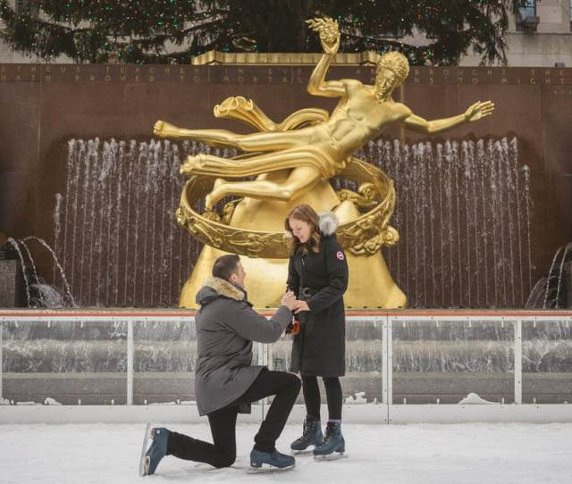 Matt And Amy Romantic Proposal At The Rockefeller Center