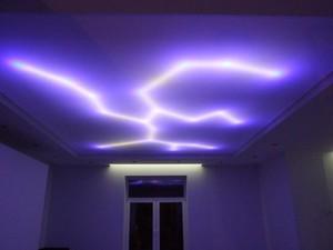 Светодиодные натяжные потолки с использованием лент ...