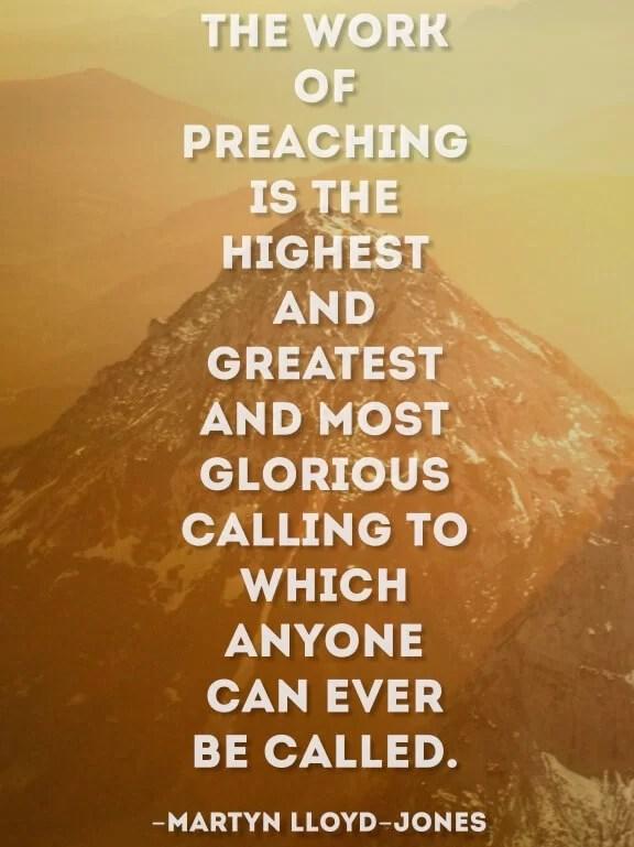 Preaching Quote Martyn Lloyd Jones