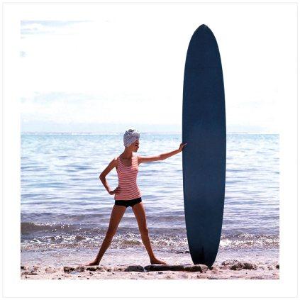 LE SURF DE CATHERINE, BIARRITZ - 1959 © GEORGES DAMBIER