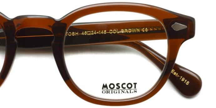 MOSCOT  /  LEMTOSH  /  BROWN  /  ¥27,000 + tax