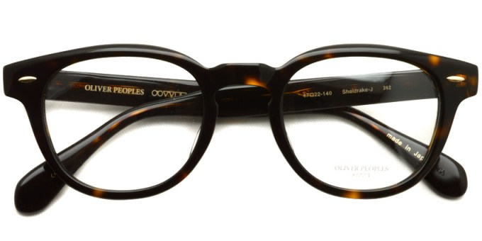 OLIVER PEOPLES / SHELDRAKE-J / 362 / ¥29,000 + tax