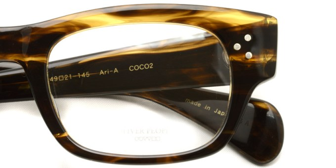 OLIVER PEOPLES /  ARI-A  /  coco2   /  ¥25,000 + tax