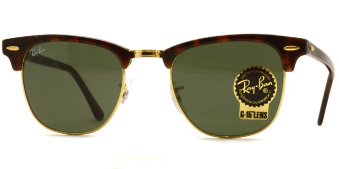 "RayBan  /  RB3016 ""CLUBMASTER"" / W0366 / ¥22,000 + tax"