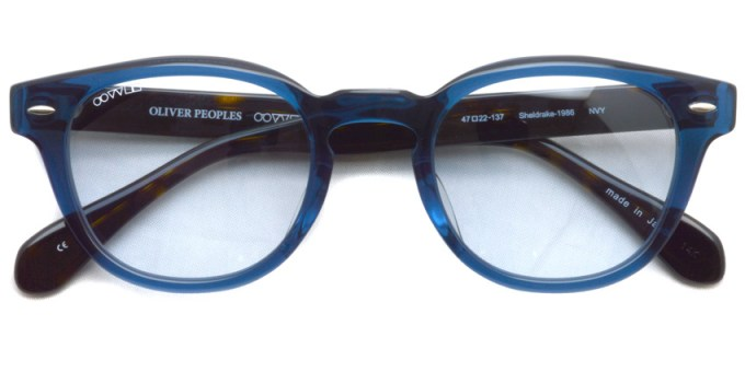 OLIVER PEOPLES /  Sheldrake-1986  /  NVY-B.W /  ¥29,000 + tax
