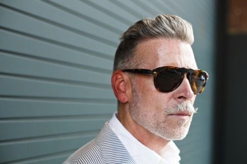 Nick Wooster wearing Persol 649