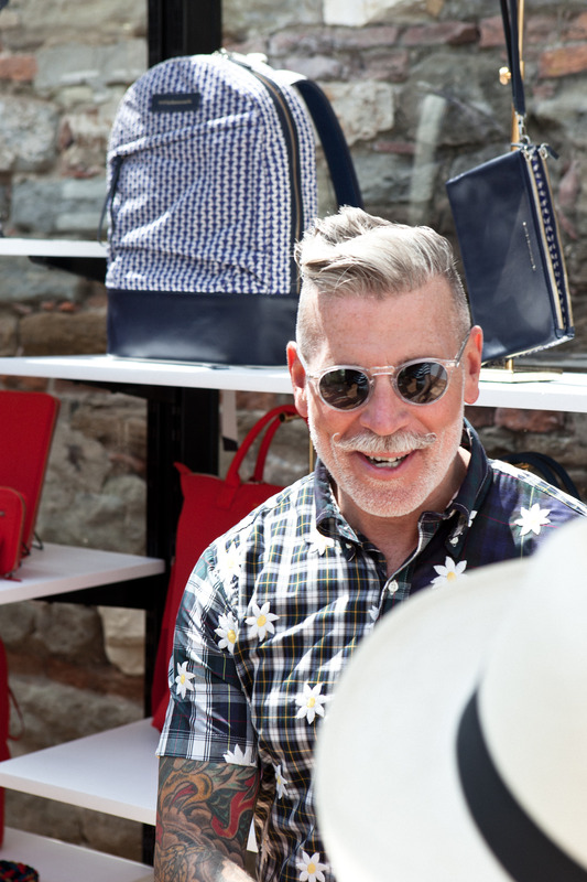nick wooster wearing MILTZEN Sun color*CRYSTAL