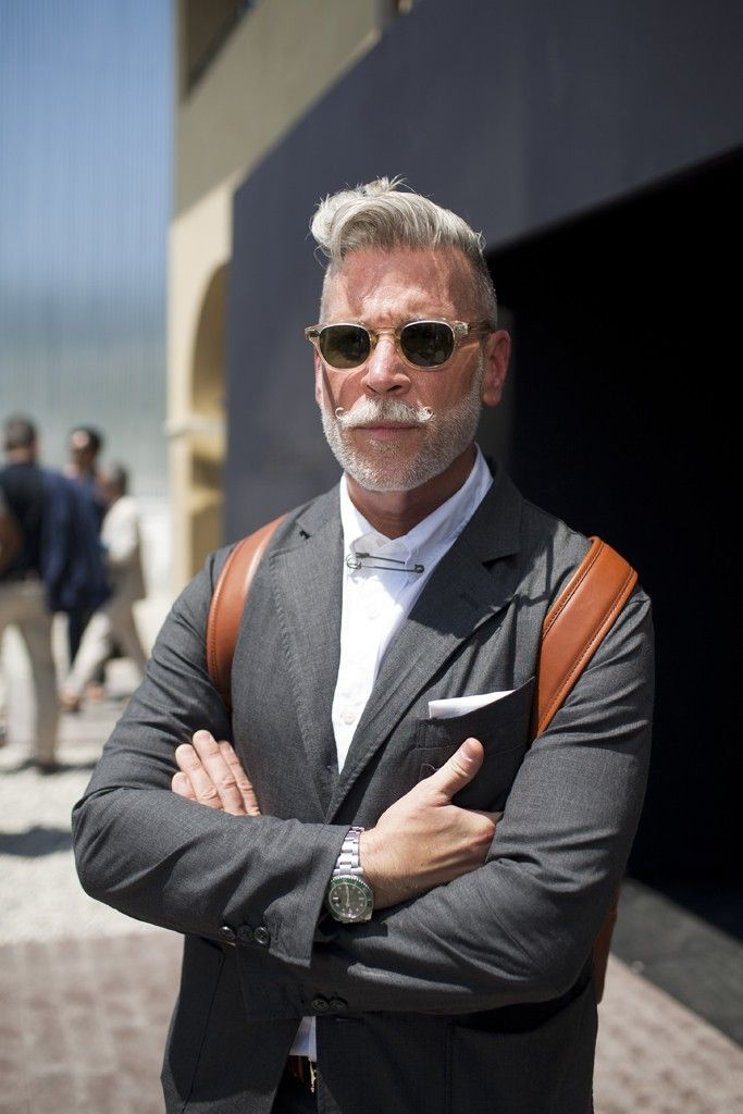 nick wooster wearing LEMTOSH Sun color*FLESH